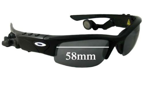 Sunglass Fix Sunglass Replacement Lenses for Oakley Thump Pro - 58mm Wide