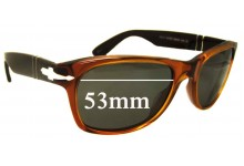 Sunglass Fix Sunglass Replacement Lenses for Persol 2953-S - 53mm Wide