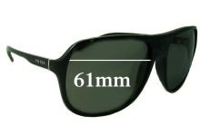 Sunglass Fix Sunglass Replacement Lenses for Prada SPR15M - 61mm Wide