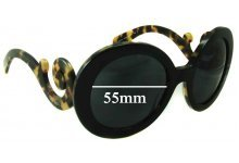 Sunglass Fix Sunglass Replacement Lenses for Prada SPR27N - 55mm Wide