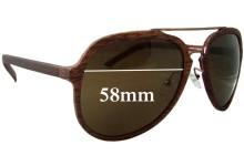 Sunglass Fix Sunglass Replacement Lenses for Rare Rabbit Wooden Aviator - 58mm Wide