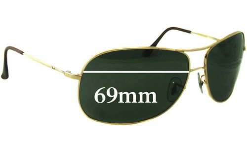 Sunglass Fix Sunglass Replacement Lenses for Ray Ban RB3267 - 69mm Wide