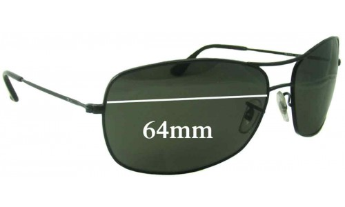 Sunglass Fix Sunglass Replacement Lenses for Ray Ban RB3322 - 64mm wide