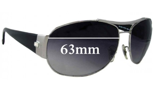 Sunglass Fix Sunglass Replacement Lenses for Ray Ban RB3358 - 63mm across