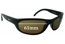 Sunglass Fix Sunglass Replacement Lenses for Ray Ban RB4033 - 61mm Wide