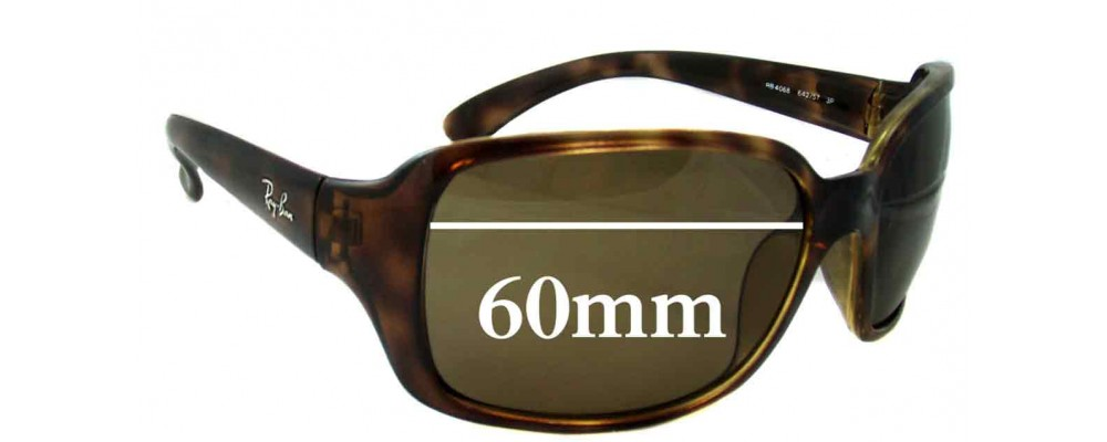 d51b8a0925 Ray Ban RB4068 Sunglass Replacement Lenses - 60mm across