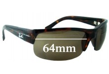 Sunglass Fix Sunglass Replacement Lenses for Ray Ban RB4079 - 64mm Wide