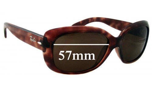 Sunglass Fix Sunglass Replacement Lenses for Ray Ban Jackie Ohh RB4101 - 57mm Wide
