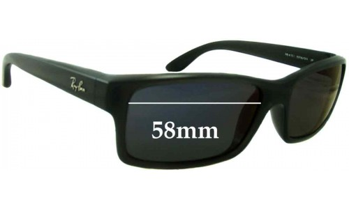 Sunglass Fix Sunglass Replacement Lenses for Ray Ban RB4151 - 57mm - 58mm Wide
