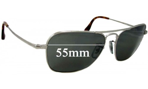 Sunglass Fix Sunglass Replacement Lenses for Ray Ban RB8034-K Small - 55mm Wide