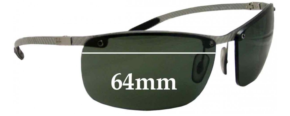 c6157db121 Sunglass Fix Sunglass Replacement Lenses for Ray Ban Tech RB8306 - 64mm Wide  - Professional Install Recommended