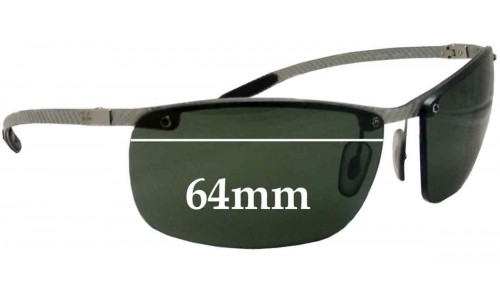 Sunglass Fix Sunglass Replacement Lenses for Ray Ban Tech RB8306 - 64mm Wide - Professional Install Recommended