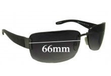 Sunglass Fix Sunglass Replacement Lenses for Armani Exchange AX 001/S - 66mm Wide