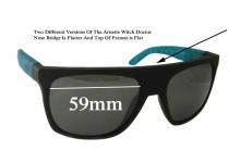 Sunglass Fix Sunglass Replacement Lenses for Arnette Witch Doctor AN4177 Flat Top Frames - 59mm Wide