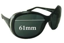 Sunglass Fix Sunglass Replacement Lenses for Bvlgari 8058-B - 61mm Wide