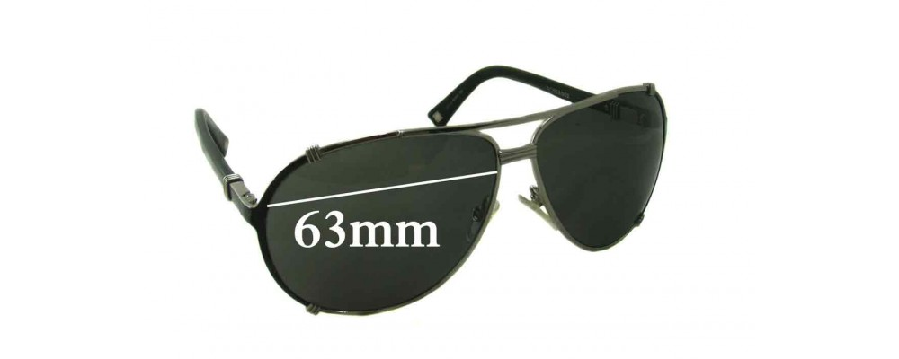 e3941de9e026b Sunglass Fix Sunglass Replacement Lenses for Christian Dior Chicago 2 -  63mm Wide