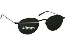 Sunglass Fix Sunglass Replacement Lenses for Club Monaco CM7507 - 49mm Wide