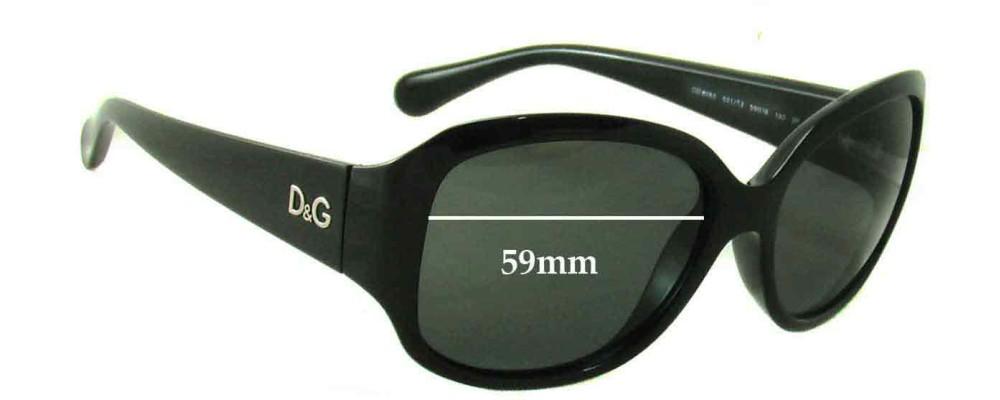 Sunglass Fix Sunglass Replacement Lenses for Dolce & Gabbana DG8065 - 59mm Wide