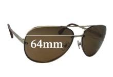 Sunglass Fix Sunglass Replacement Lenses for Dolce & Gabbana DG6086 - 64mm Wide