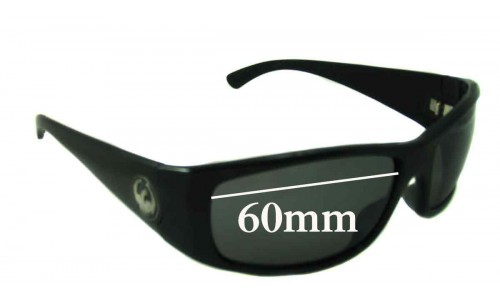 Sunglass Fix Sunglass Replacement Lenses for Dragon Dusk - 60mm wide