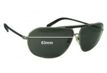 Sunglass Fix Sunglass Replacement Lenses for Ermenegildo Zegna SZ 3072 - 63mm Wide