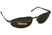 Sunglass Fix Sunglass Replacement Lenses for Eye Gear 2514 - 60mm Wide