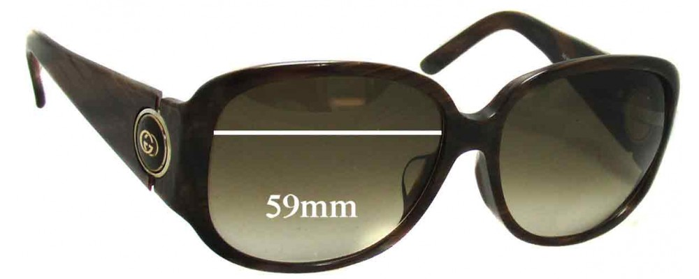 Sunglass Fix Replacement Lenses for Gucci GG3114 - 59mm Wide