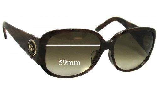 Sunglass Fix Sunglass Replacement Lenses for Gucci GG 3114 - 59mm wide