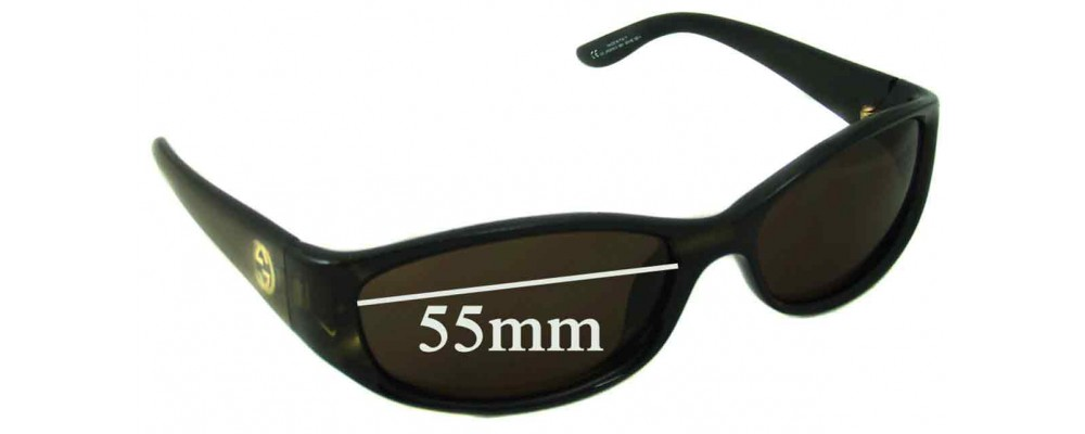 Sunglass Fix Replacement Lenses for Gucci GG2456/N/S - 55mm Wide