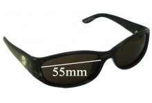 Sunglass Fix Sunglass Replacement Lenses for Gucci GG 2456/N/S - 55mm Wide