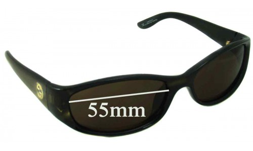 Sunglass Fix Sunglass Replacement Lenses for Gucci 2456/N/S - 55mm wide