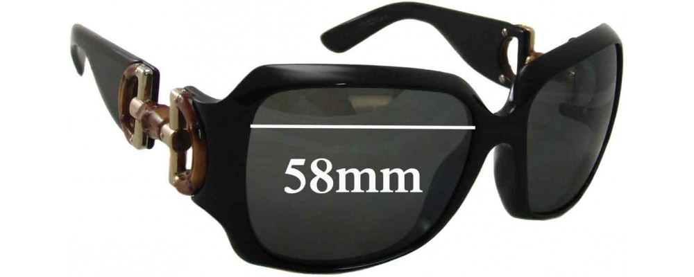 Sunglass Fix Replacement Lenses for Gucci GG2969 - 58mm Wide