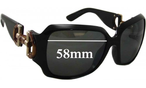 Sunglass Fix Sunglass Replacement Lenses for Gucci 2969 - 57-58mm Wide