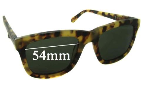 Sunglass Fix Sunglass Replacement Lenses for Karen Walker Deep Freeze - 54mm Wide