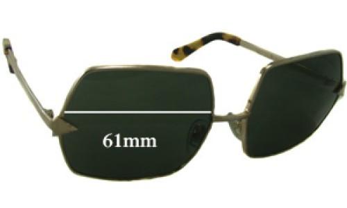 Sunglass Fix Sunglass Replacement Lenses for Karen Walker The Prisoner - 61mm Wide
