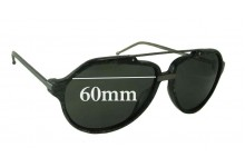 Sunglass Fix Sunglass Replacement Lenses for Linda Farrow Raf 14 - 60mm Wide