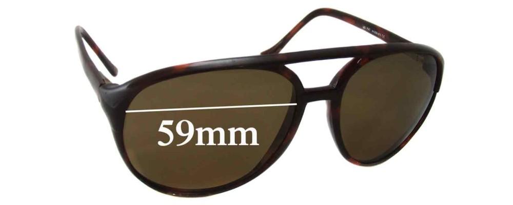 Sunglass Fix Sunglass Replacement Lenses for Maui Jim MJ193 - 59mm Wide