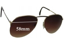 Sunglass Fix Sunglass Replacement Lenses for Neostyle Academic 250 - 58mm Wide