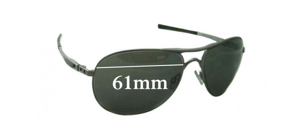 0379274f27 Oakley Plaintiff Sunglass Replacement Lenses - 61mm Wide