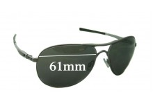 Sunglass Fix Sunglass Replacement Lenses for Oakley Plaintiff OO4057 - 61mm Wide