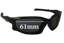 Sunglass Fix Sunglass Replacement Lenses for Oakley Split Jacket OO9099 - 61mm Wide