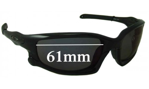 Sunglass Fix Sunglass Replacement Lenses for Oakley Split Jacket - 61mm Wide