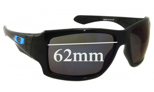 Sunglass Fix Sunglass Replacement Lenses for Oakley Big Taco - 62mm Wide