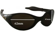 Sunglass Fix Sunglass Replacement Lenses for Oakley Eye Jacket Large 62mm Wide
