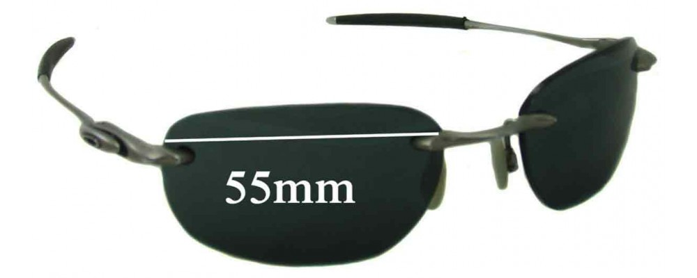 Sunglass Fix Sunglass Replacement Lenses for Oakley Why 8.1 - 55mm Wide