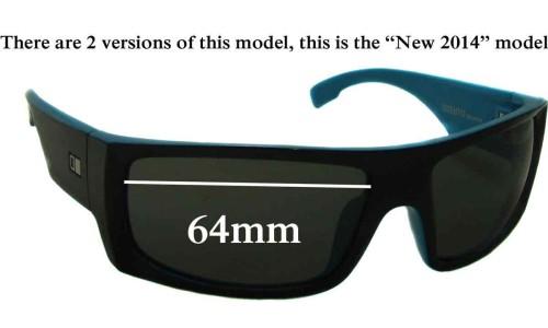 Sunglass Fix Sunglass Replacement Lenses for Otis Seventy 7 New 2014 - 64mm Wide