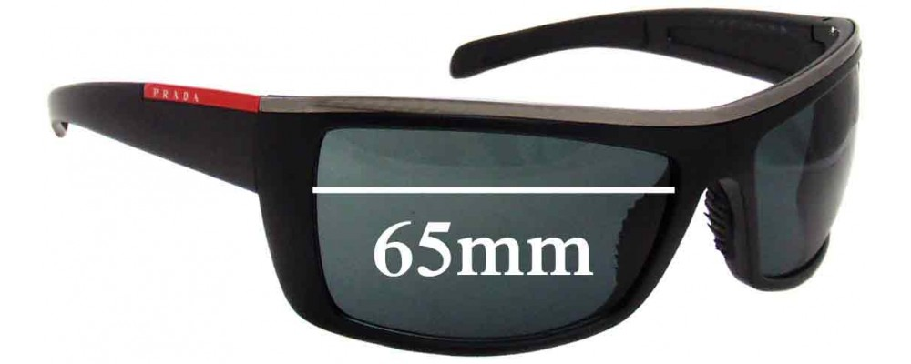 Sunglass Fix Sunglass Replacement Lenses for Prada SPS02H - 65mm Wide
