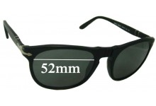 Sunglass Fix Sunglass Replacement Lenses for Persol 2994-S - 52mm Wide