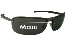 Sunglass Fix Sunglass Replacement Lenses for Police S2869 - 66mm Wide