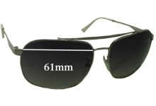 Sunglass Fix Sunglass Replacement Lenses for Police S8401N - 61mm Wide